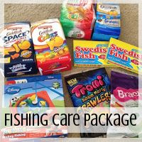 Care Package: Fishing Theme  // Love From Home