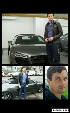 Alex Terzieff is Jamie Dornan's Christian Grey stunt double for the car chase I'm FSF