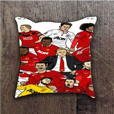 MANCHESTER UNITED PLAYER BATHROOM PILLOWS