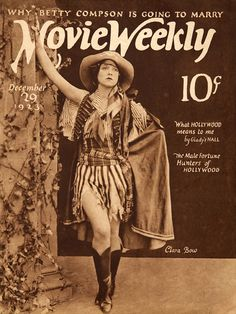 clara bow on the cover of Movie Weekly, c.1923