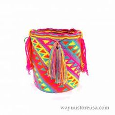 Authentic Crochet Wayuu Mochilas Bags Bag ~wybag-278