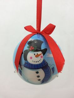 G for Gifts - LED Light Up Ornament - Blue with Snowman * Find out more about the great product at the image link.