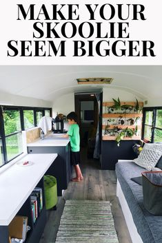 Skoolie Floor Plan Tricks to Increase Your Space - We Live on a Bus School Bus Tiny House, School Bus Camper, Bus Living, Tiny Living, Rv Floor Plans, House Plans, School Bus Conversion, Camper Conversion, Short Bus