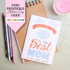 New post in Partymazing: Free Printable Mothers Day Card. Visit www.partymazing.com