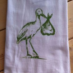 Mothers love our flour sack towels so much they've started using them with baby.  These 100% cotton flour sack towels are super soft for baby's skin and work great as a cloth diaper or burp cloth.  Each one is hand printed just for your little one.  www.163designs.com