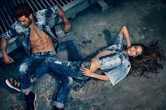 Gonçalo Teixeira e Thairini Garcia para Campanha Verão 2016 da Damyller, por Nicole Heineger.