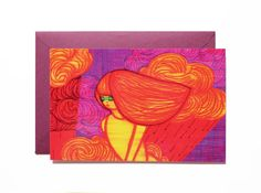 Purple sky-Art print-Postcard by Pionara on Etsy