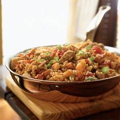 Jambalaya | Cooking Light  Making this for dinner!! Smells YUMMY!!