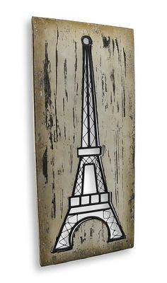 Amazon.com - Wood and Metal Cut Out Eiffel Tower Wall Art - Wall Sculptures