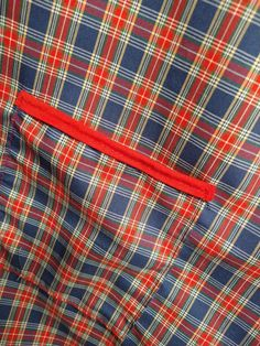 Handmade and available at website. Bbq Apron, Chef Apron, Red And Blue, Plaid, Website, Trending Outfits, Unique Jewelry, Handmade Gifts, Cute