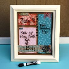 """""""Take Note"""" DryErase Frame...made with my new Front Porch Kit...""""Just Add Water"""".  These will be so fun to make for all the different seasons!     Find Joy in your Creative Journey...Everyday!"""