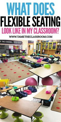 Get some much needed inspiration for your flexible seating classroom by viewing what's inside my classroom. #flexibleseating #flexibleseatingtips
