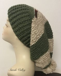 Crochet Baggy Beanie, woolly slouchy Beanie, Pom Pom Beanie, ladies hats, birthday gifts, occasion gifts, Mother's Day gift
