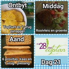 Day 21 High Protein Diet Plan, High Protein Recipes, Diabetic Meal Plan, Vegan Meal Plans, Clean Eating Recipes, Diet Recipes, Diet Meals, Recipies, 28 Dae Dieet