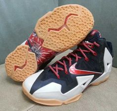 59b6df8d5b5 Authentic Nike Lebron 11 Independence Day For Sale Online Free Shipping  http   www