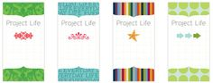 Freebie: Project Life Binder Labels