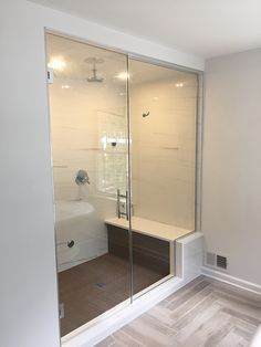 Frameless Shower Enclosure - Furnished and Installed by Rex Glass & Mirror Co. Frameless Shower Enclosures, Frameless Shower Doors, Glass Company, Bathtub, Mirror, Bathroom, Luxury, Modern, Standing Bath