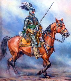 Cuirassier Century by French artist Lucien Rousselot. Medieval Armor, Medieval Fantasy, Medieval Knight, Thirty Years' War, Modern Gothic, Early Modern Period, Landsknecht, Gothic Horror, Renaissance Art