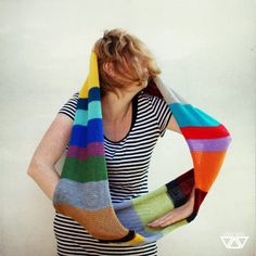bright knit cowl chunky neckwarmer funky fulll of joy by diEnes