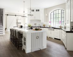 Beautiful white kitchen. So much character