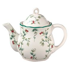 Have to have it. Pfaltzgraff Winterberry Sculpted Teapot $19.99