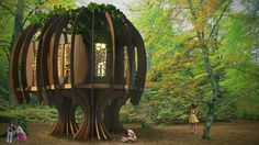 the quiet treehouse by  quiet mark, john lewis & blue forest for chestnut tree house children's hospice in west sussex, UK #IHS