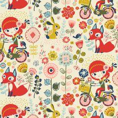 Bike girls fabric by irrimiri on Spoonflower - custom fabric