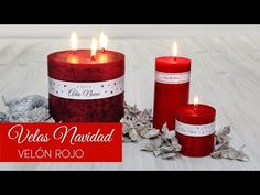 Red Candles, Pillar Candles, Diy, Youtube, Ideas, Xmas, Gifs, Christmas Candles, Red Christmas