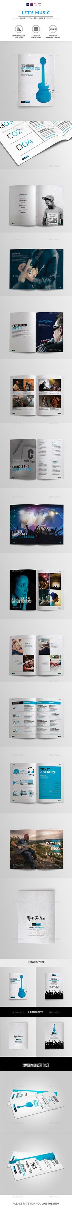 Music Festival Brochure | Indesign & Photoshop   PSD Template • Download ➝ https://graphicriver.net/item/music-festival-brochure-indesign-photoshop-template/14712679?ref=pxcr