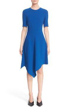 STELLA MCCARTNEY Handkerchief Hem Cady Dress. #stellamccartney #cloth #