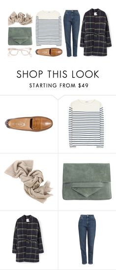 """""""Untitled #85"""" by e44tar ❤ liked on Polyvore featuring Tod's, Closed, Brunello Cucinelli, Pieces, MANGO and Topshop"""