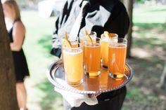 Orange Cocktails - Claire and Caleb's Mount Hope Farm Wedding   The Newport Bride