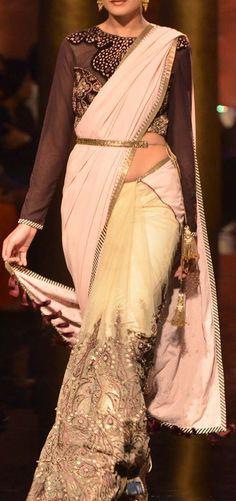 Shraddha Kapoor turns showstopper for JJ Valaya at Bridal Fashion Week 2014 #digital #print #fabric  www.chimoraprint.com