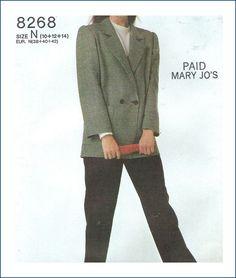 Simplicity 8268 Sewing Pattern Uncut Misses Pants Jacket Size 10 12 14