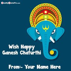 Happy Ganesh chaturthi wishes name greeting card online create, personalized name 2020 best collection unique wish card festival Ganesh chaturthi, beautiful lord ganesha whatsapp stauts download free, write your name on special send Ganesh chaturthi card pictures, make your name image creator Ganesh chaturthi customized wishes pic, free editing happy Ganesh chaturthi high quality wallpapers. Happy Ganesh Chaturthi Wishes, Wishes Images, High Quality Wallpapers, Lord Ganesha, Day Wishes, Your Name, Greeting Cards, Names, Make It Yourself