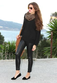 Zara  Jerseys, Blanco  Leggings and Blanco  Zapato plano