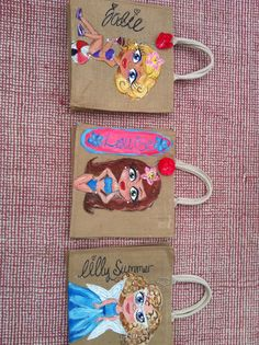 Personalised hand painted jute bags