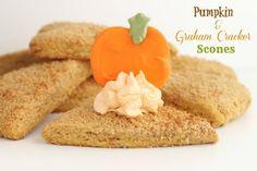 Pumpkin and Graham Cracker Scones | Created by Diane