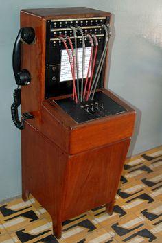 Uma antiga Central Telefônica é parte da decoração da Prefeitura de São José de Mipibu - Rio Grande do Norte     Hmm I like
