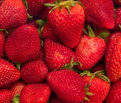 Eat some in-season #strawberries! They're chockfull of the #antioxidant vitamin C, which is critical for the production of #collagen, a structural protein that's key for firm, youthful-looking #skin. But always eat #organic strawberries—as conventional strawberries have some of the highest levels of free-radical-triggering #pesticides.