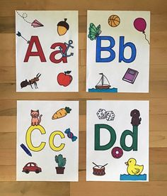 explore the ABC's with these cute little images that give examples of what words begin with each letter.