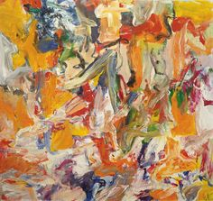 Willem de Kooning (1904–1997), one of the most important artists of the post World War II era, earned a national reputation for his highly charged abstract expressionistic paintings by the late 1940s. Description from artspace.com. I searched for this on bing.com/images