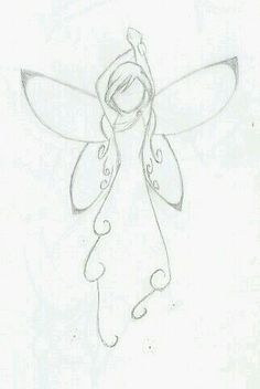 Cute And Simple Fairy Drawing