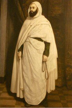 l'Emir Abdelkader le 1er rassembleur des peuples algériens , poète , philosophe , érudit soufi et chef politique ayant combattu les français jusqu'en 1847 année de son exil