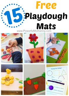 Take a look at this collection of playdough mats! Great for toddlers and preschoolers. from PowerfulMothering.com