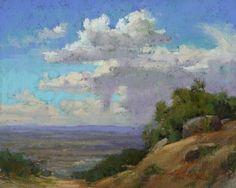Albuquerque Panoráma Kim Lordier pasztell ~ 8 x 10