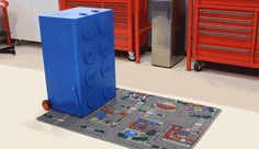 A Giant Lego Brick Toolbox That Transforms Into a Lego-Filled Workshop
