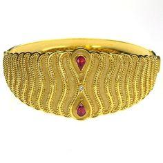 Parthenon Greek 18k Gold Sapphire Drops Bracelet www.parthenon-greekjewelry.com
