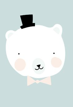 Eef Lillemor 'A3 Poster Mr Polar Type Illustration, Pattern Illustration, Art Wall Kids, Nursery Wall Art, Baby Decor, Kids Decor, Cute Drawings, Animal Drawings, Baby Posters