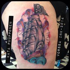https://www.facebook.com/VorssaInk, http://tattoosbykata.blogspot.fi, #tattoo #tatuointi #katapuupponen #vorssaink #forssa #finland #traditionaltattoo #suomi #oldschool #pin up #sailboat